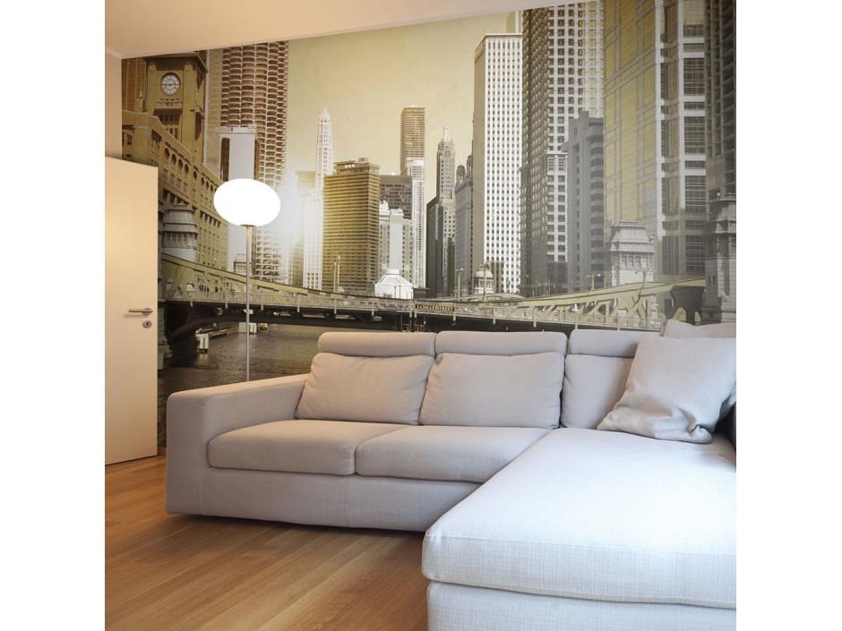 Papier peint  Chicagos bridge (vintage effect)