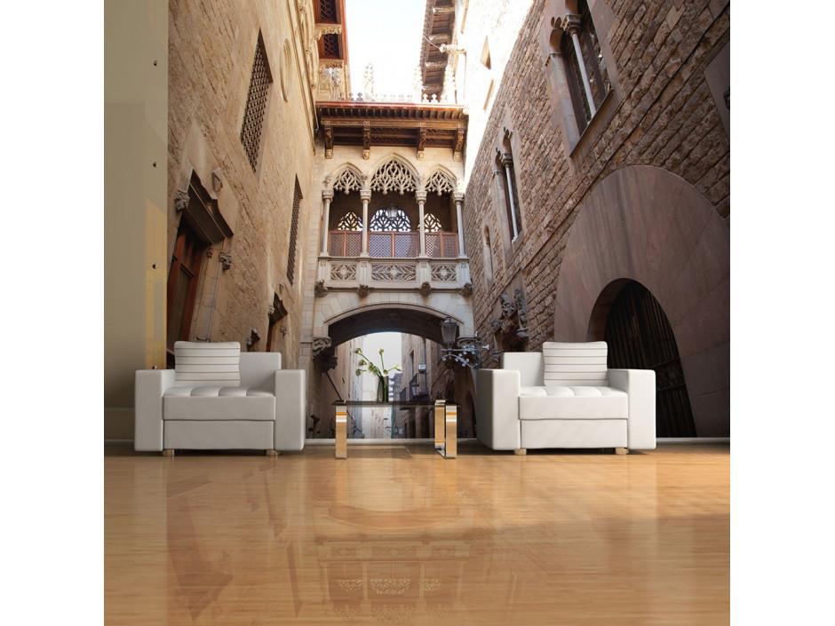 Papier peint - Barcelona Palau generalitat in gothic Barrio