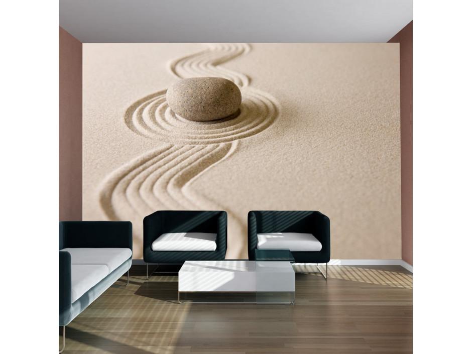 Papier peint  Zen sand garden