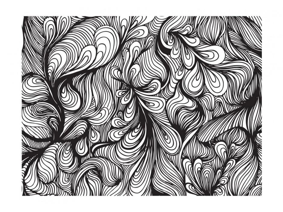 Papier peint - Noir et blanc style rétro - Declina
