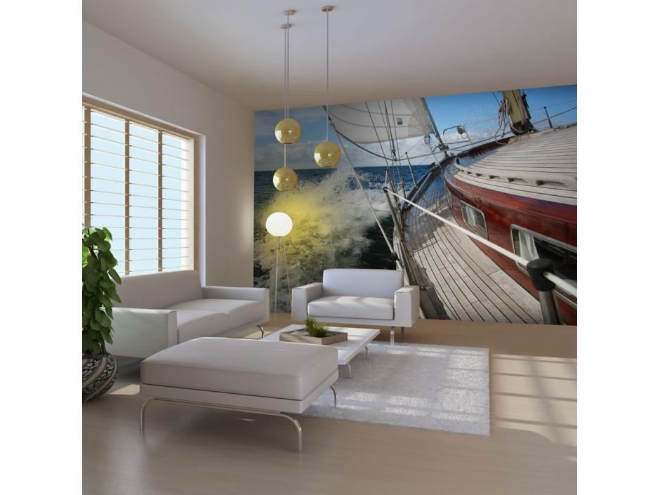 Papier peint  Croisière en bateau dans la mer  Ahoj!