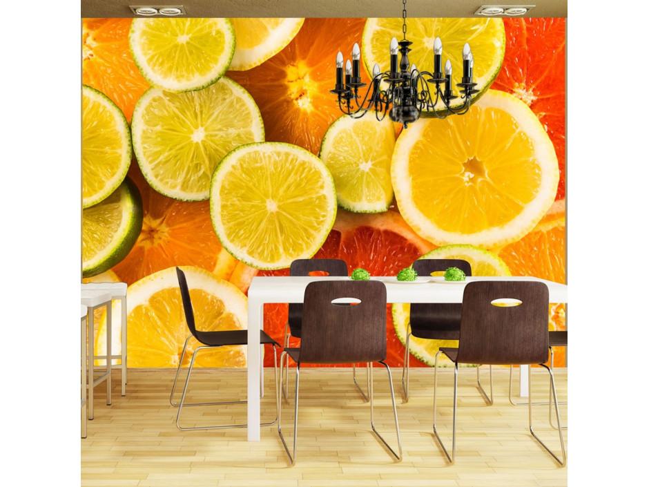 Papier peint  Citrus fruits