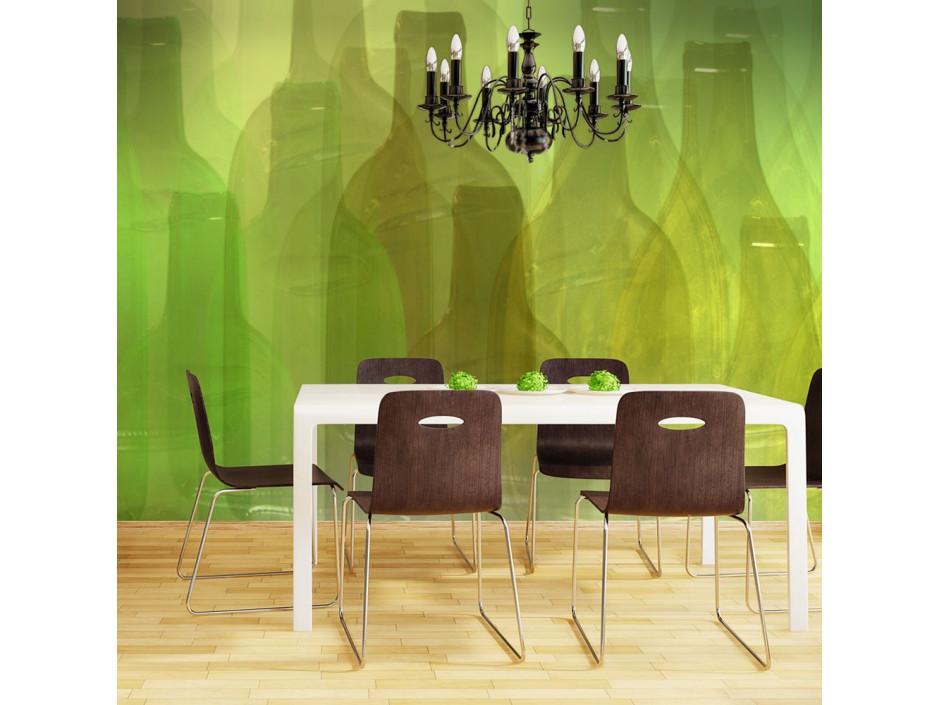 Papier peint  Bouteilles vertes