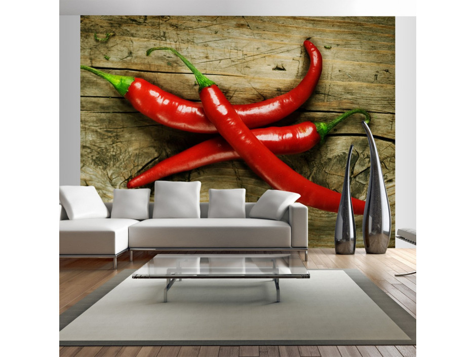 Papier peint  Spicy chili peppers