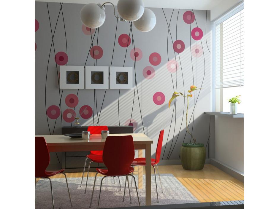 Papier peint  Boutons roses