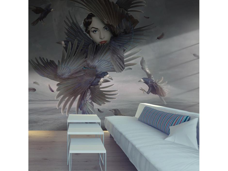 Papier peint  Couverte de plumes