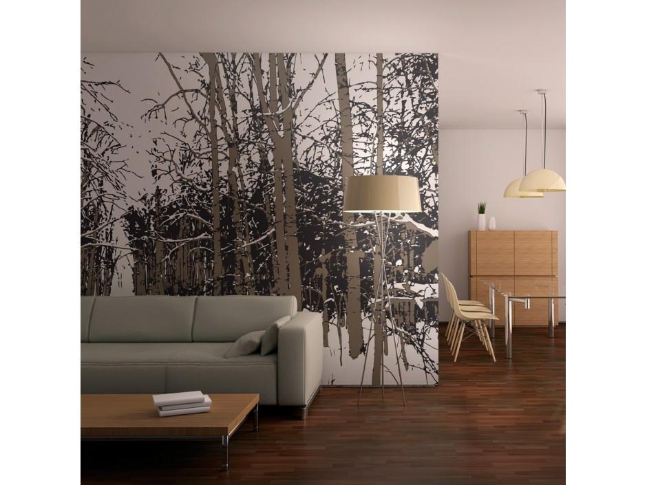 Papier peint  arbres  automne