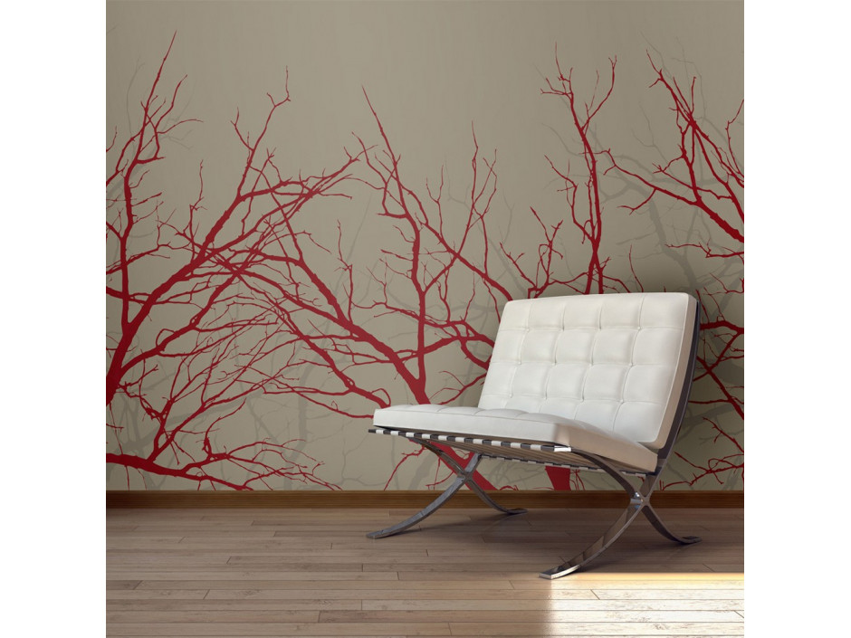 Papier peint - Red-hot branches