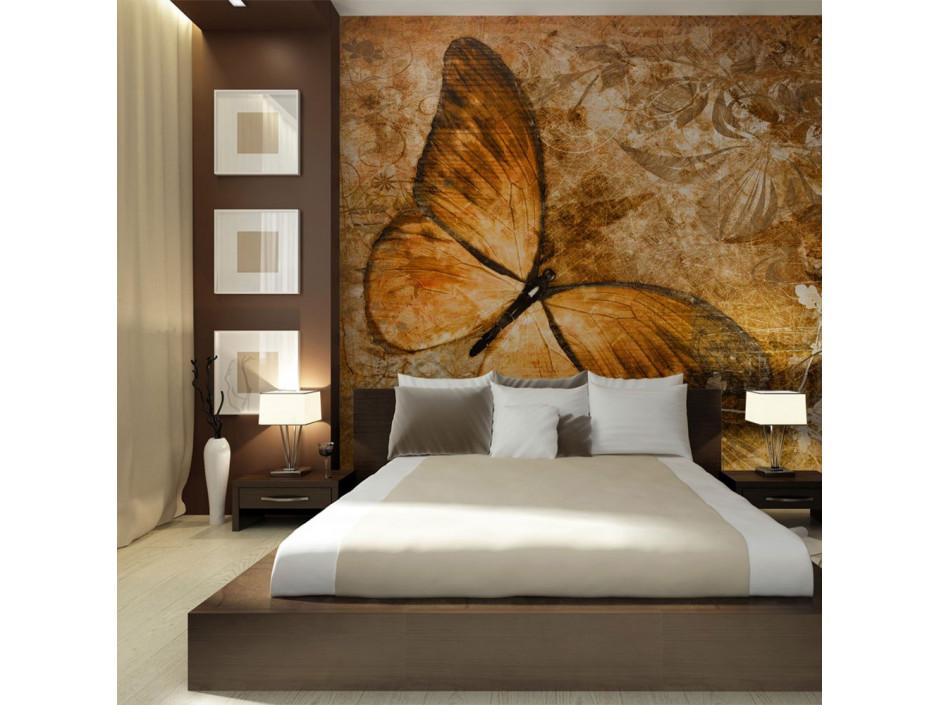 Papier peint  butterfly (sepia)