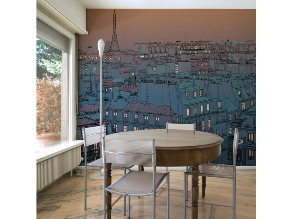Papier peint  Bonsoir Paris !