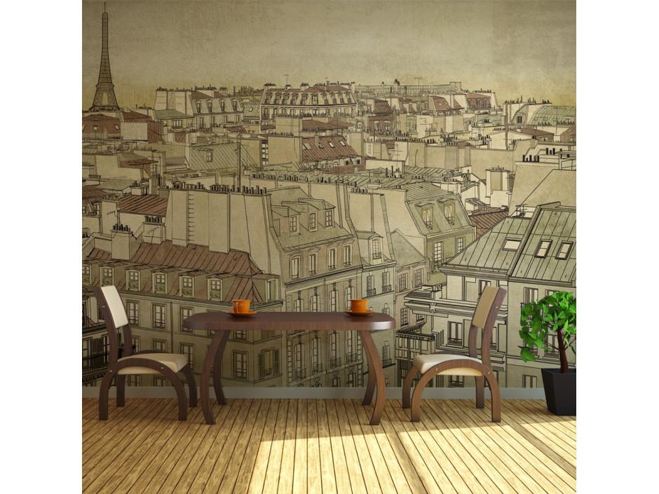 Papier peint - Good bye Paris!