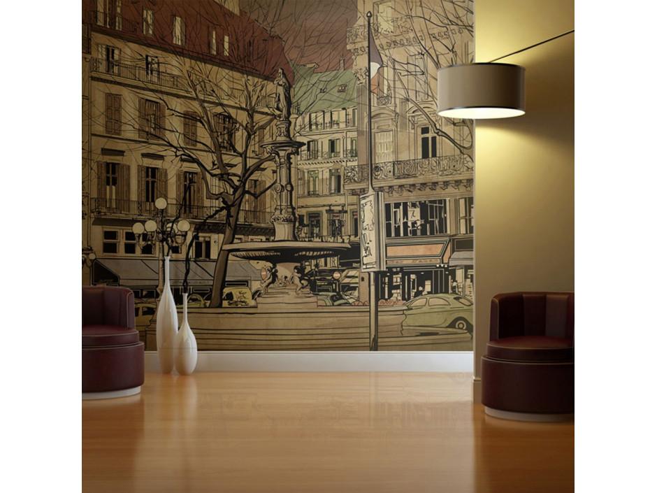 Papier peint  Parisian fountain