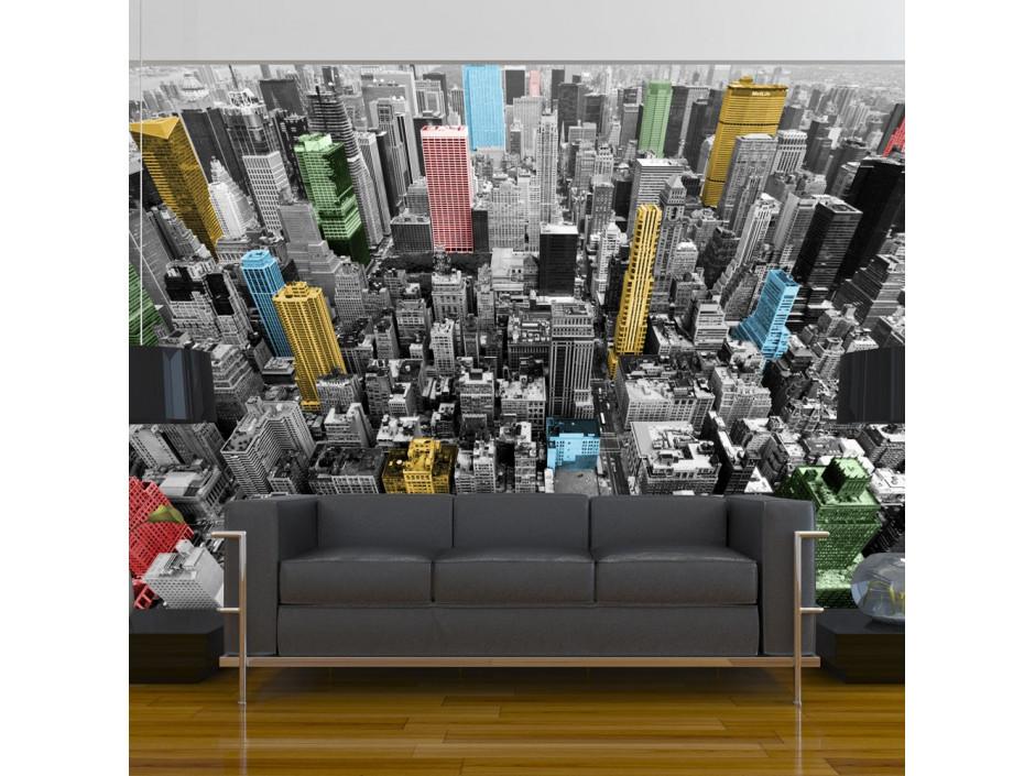 Papier peint  New York kaléidoscope
