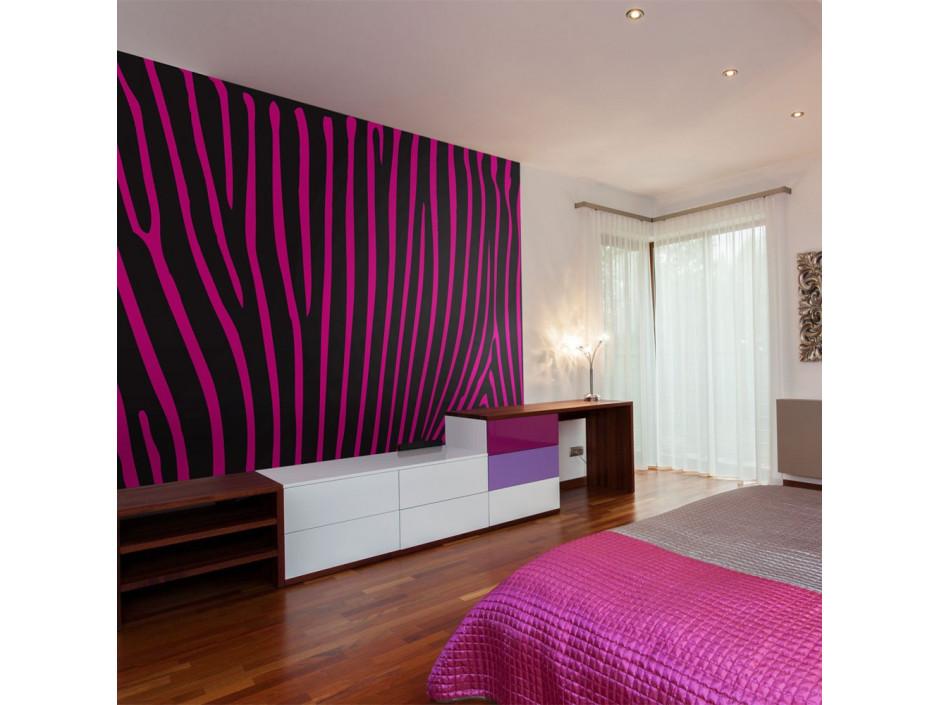 Papier peint - Zebra pattern (violet)