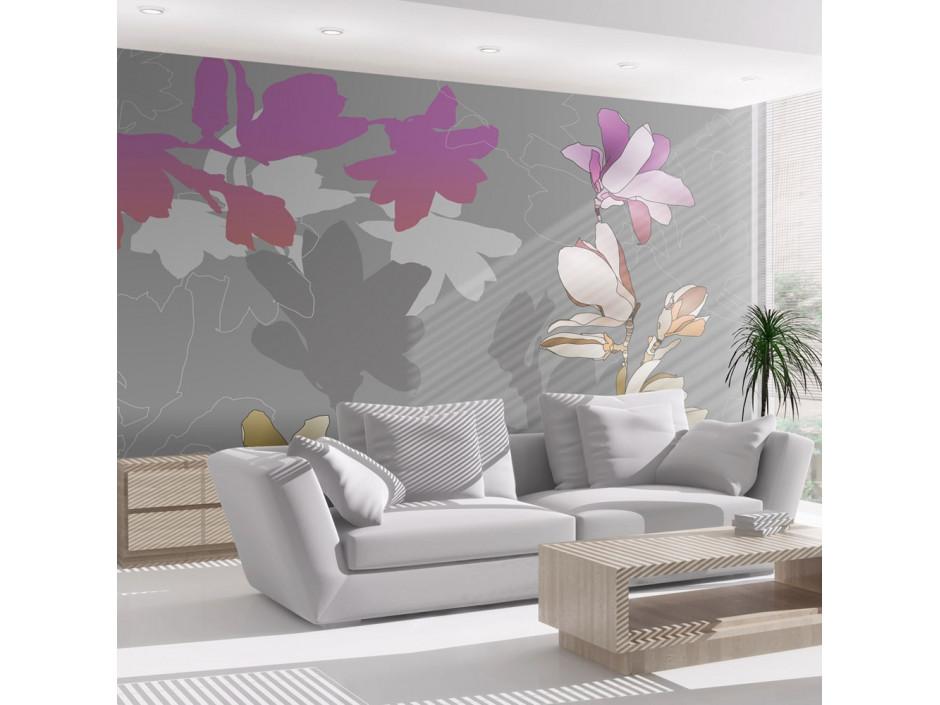 Papier peint - Magnolias en pastels