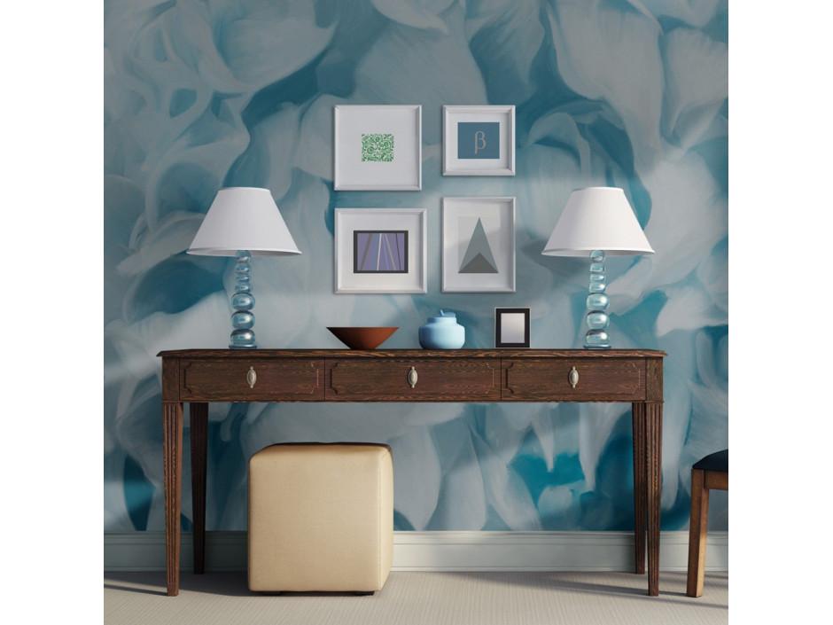 Papier peint - azalée (bleu)