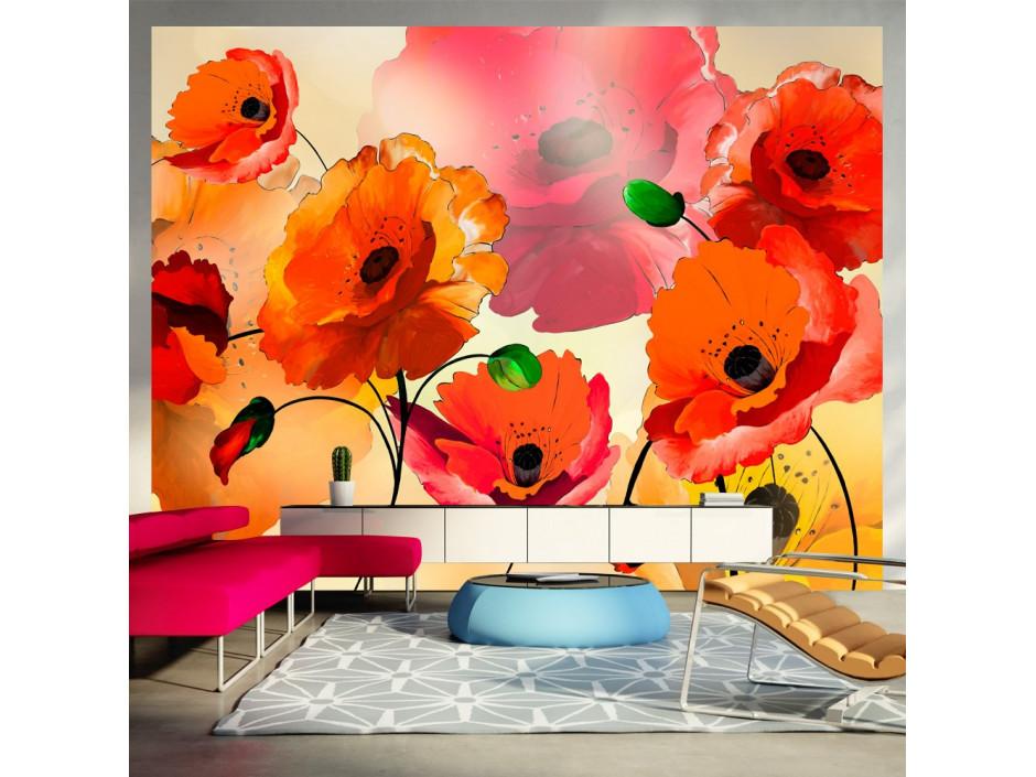 Papier peint  Velvet poppies