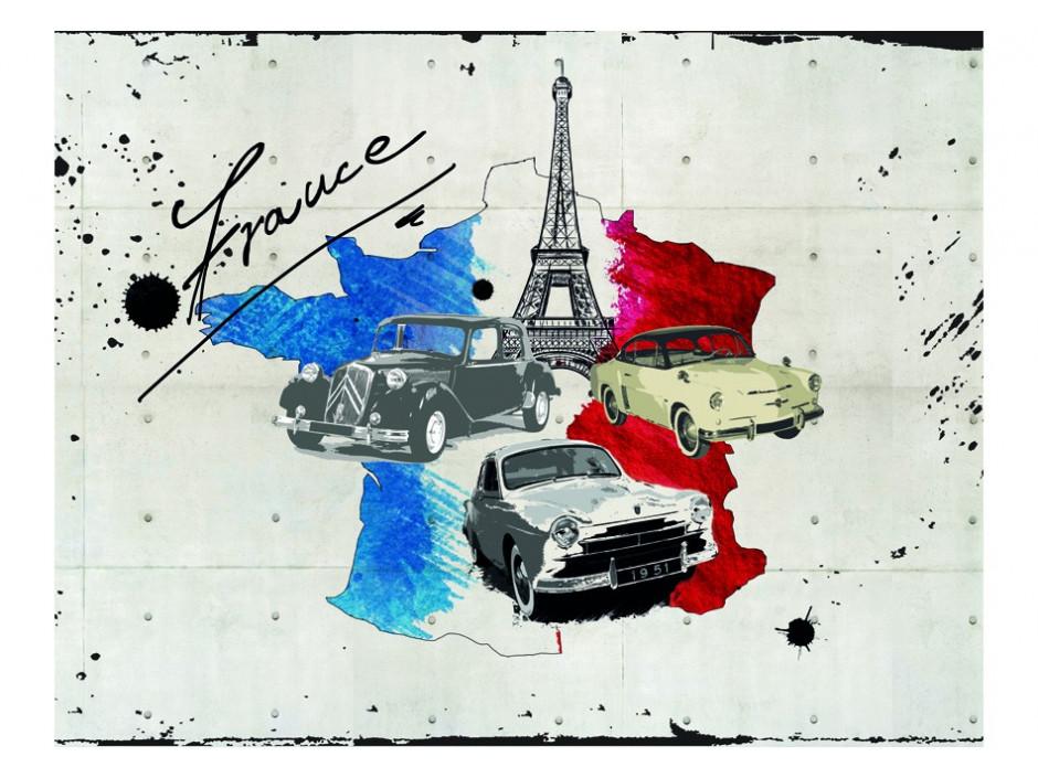 Papier peint  Admirer of cars (France)