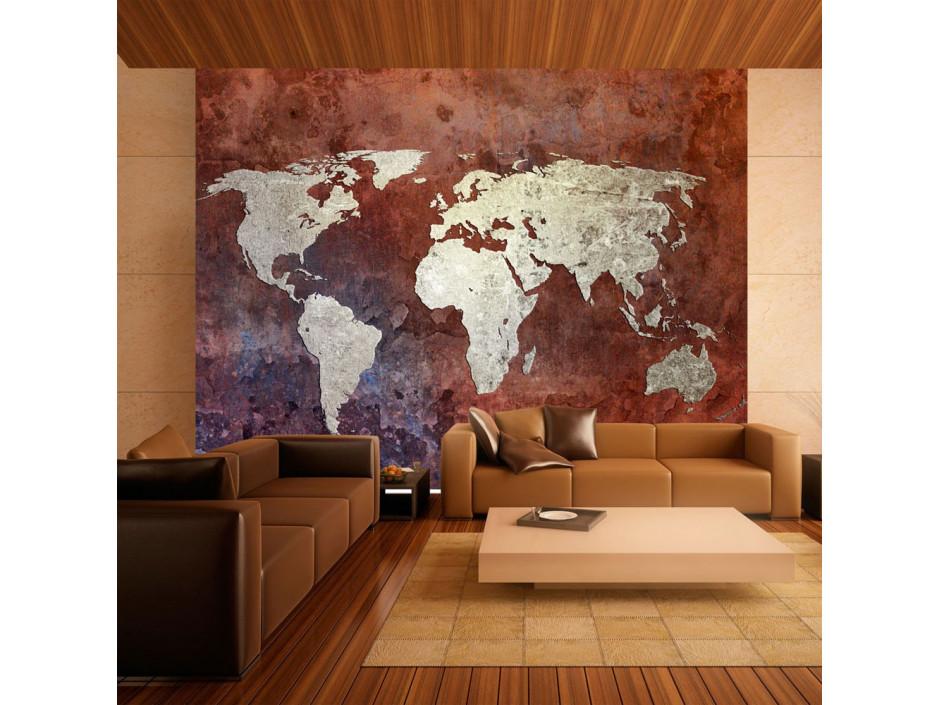 Papier peint  Iron continents