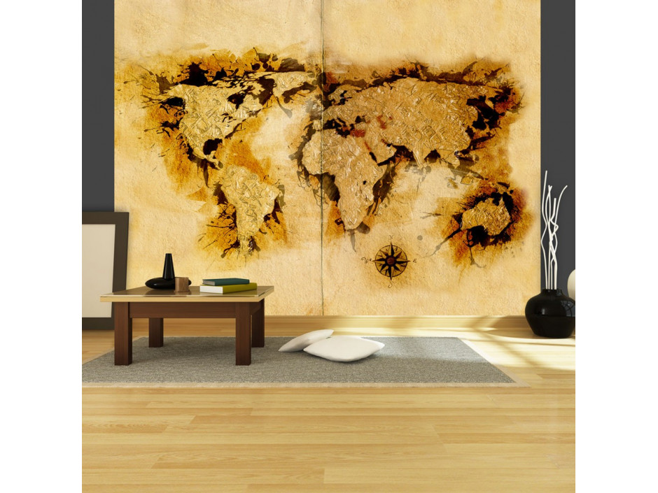 Papier peint  Golddiggers map of the World