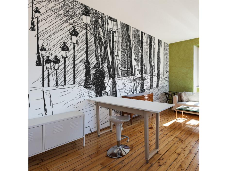 Papier peint  escaliers  Montmartre