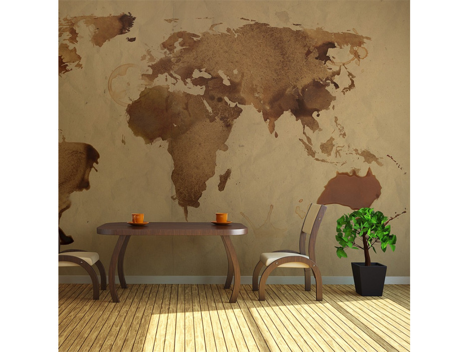 Papier peint  Tea map of the World