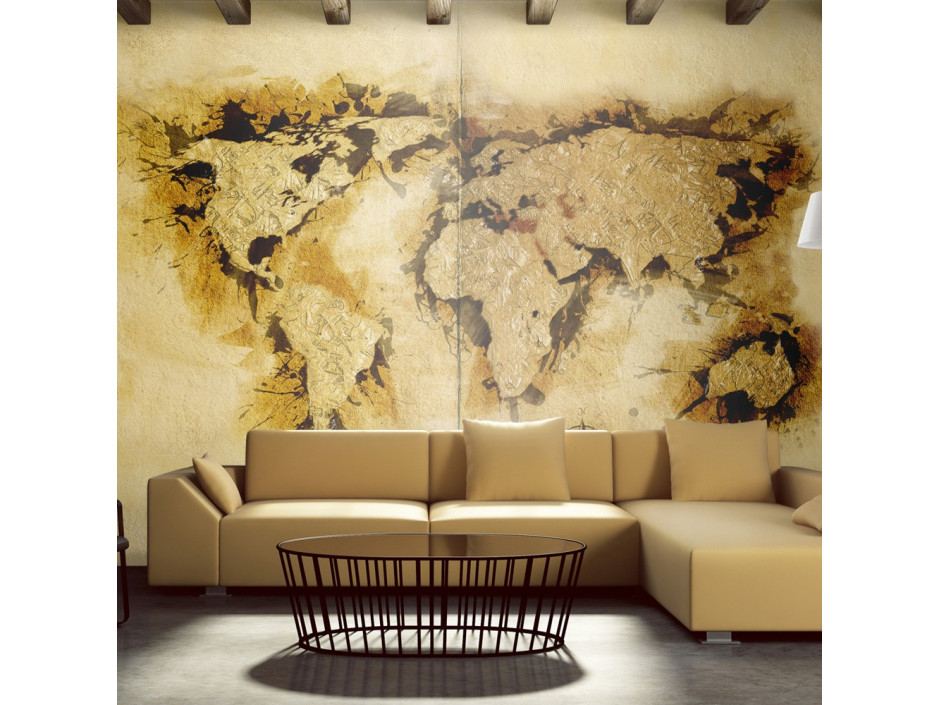 Papier peint  Golddiggers map of the World