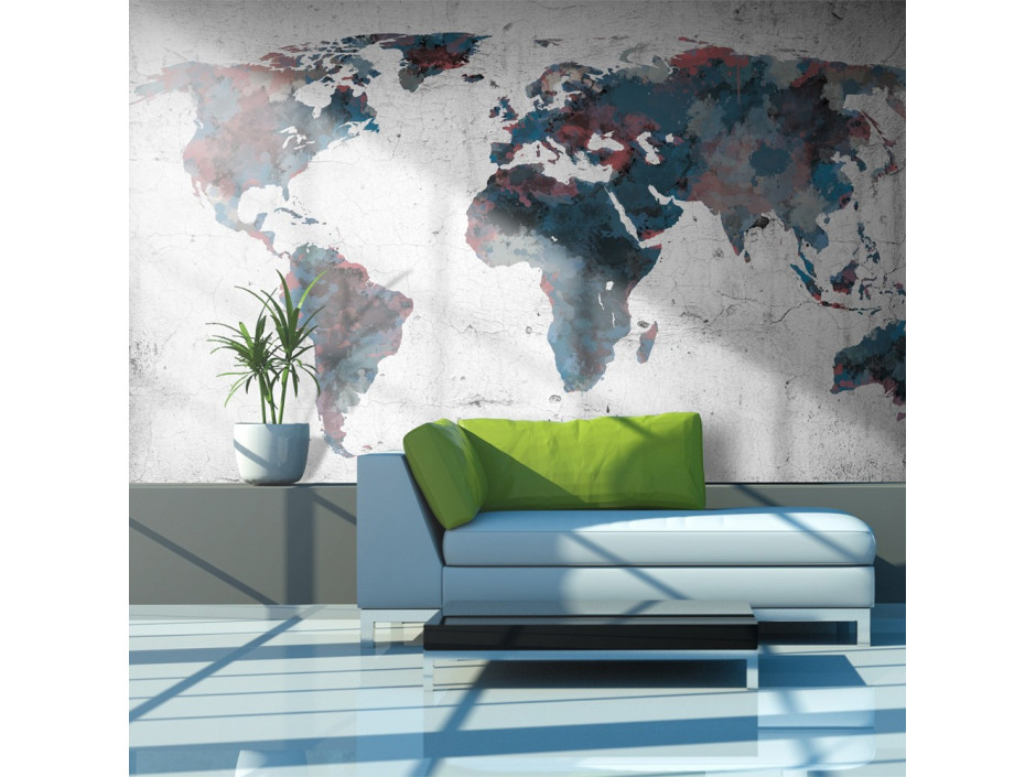 Papier peint  World map on the wall