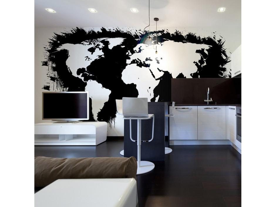 Papier peint  White continents, black oceans...