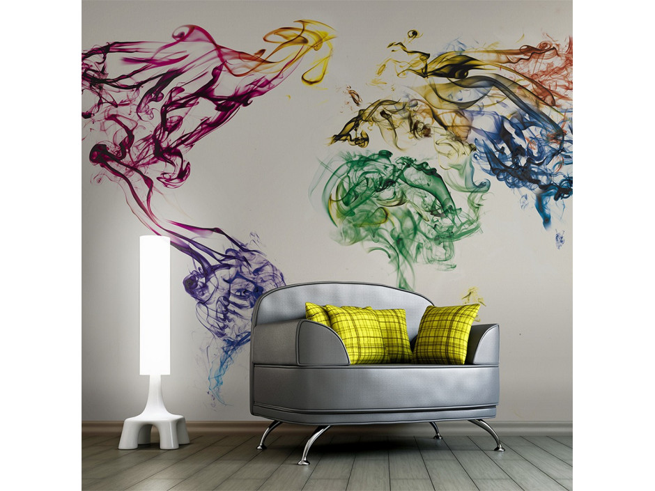 Papier peint  Dancing smoke trails