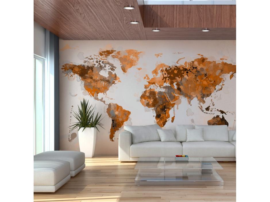 Papier peint  World in brown shades
