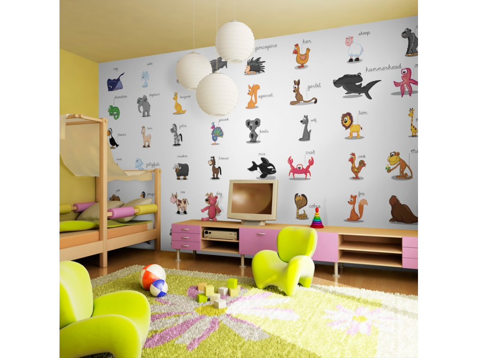 Papier peint XXL  Learning by playing (animals)