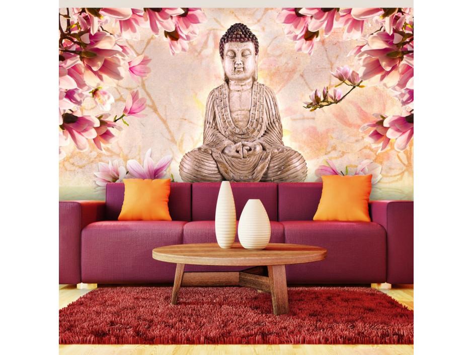 Papier peint XXL  Bouddha et magnolia