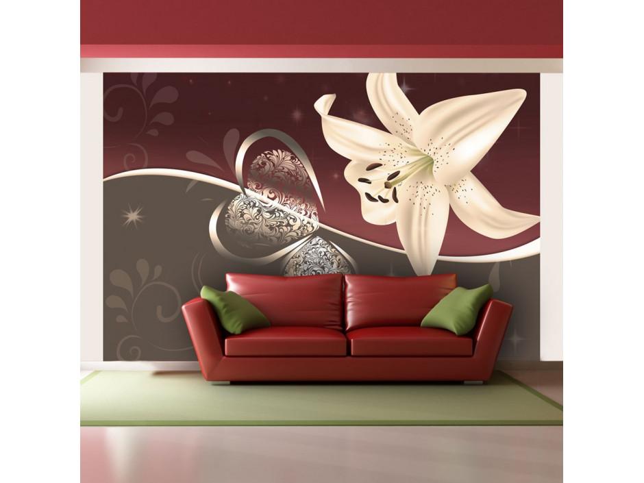 Papier peint - Cream lily