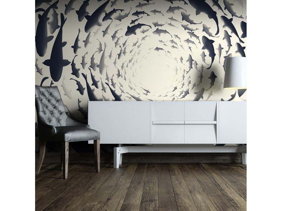 Papier peint  Fish swirl