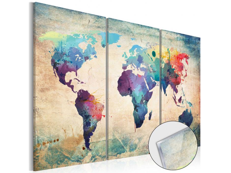 Tableau sur verre acrylique  Rainbow Map [Glass]