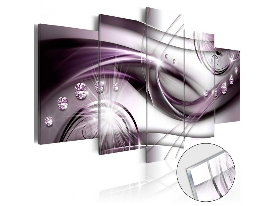Tableau sur verre acrylique  Violet Glow [Glass]