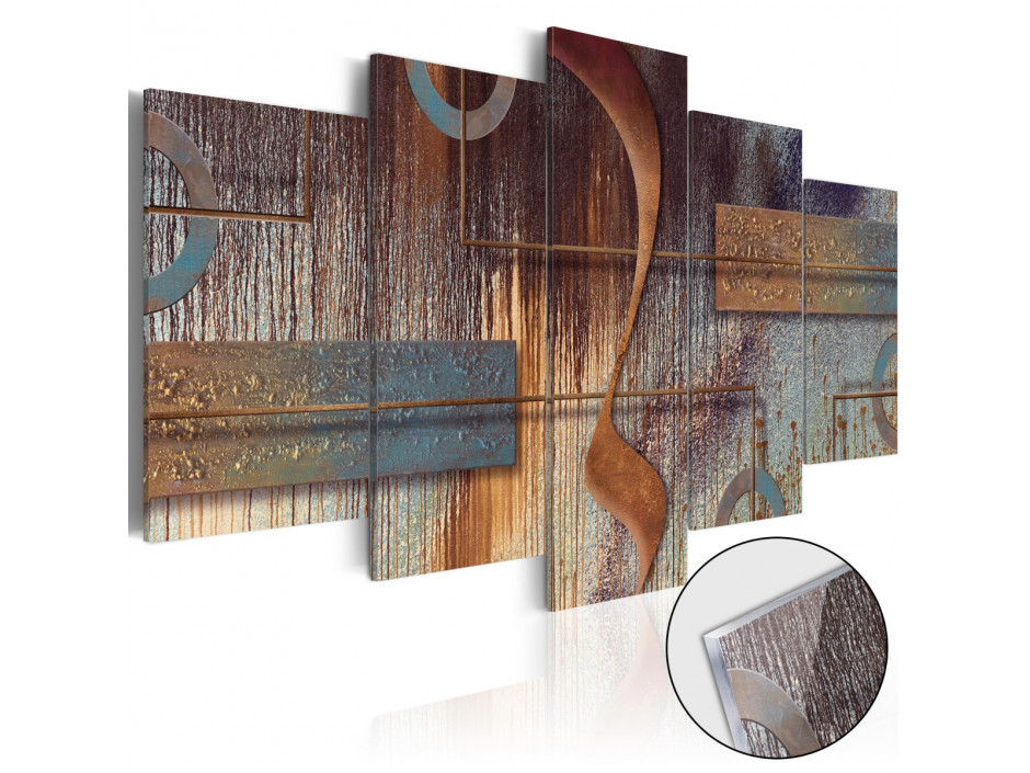 Tableau sur verre acrylique   Oriental Composition [Glass]