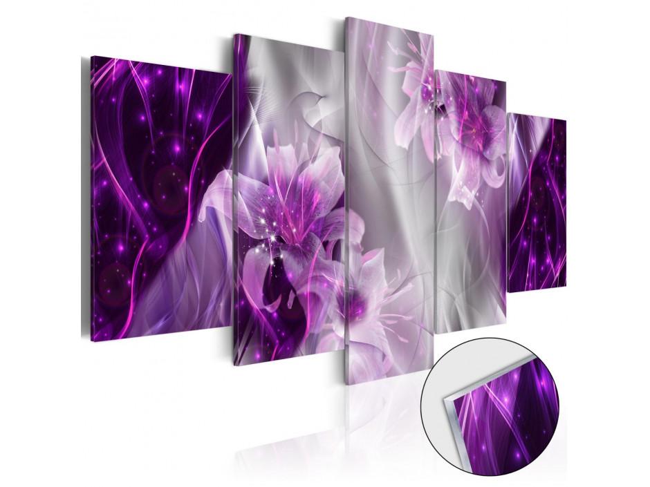 Tableau sur verre acrylique  Purple Utopia [Glass]