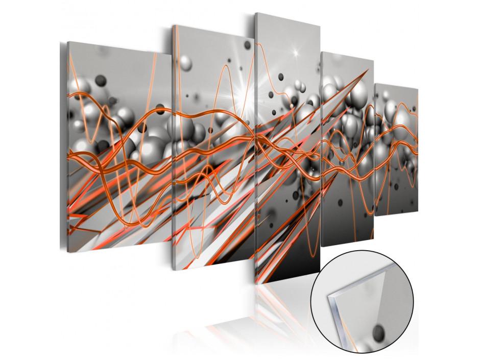 Tableau sur verre acrylique  Orange Stream