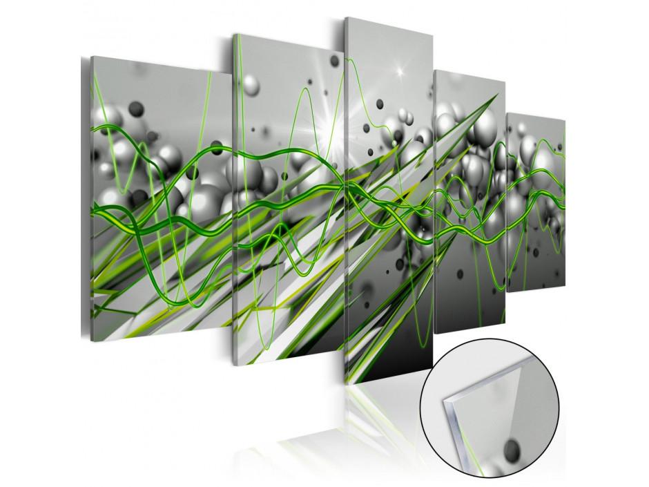 Tableau sur verre acrylique  Green Rhythm [Glass]