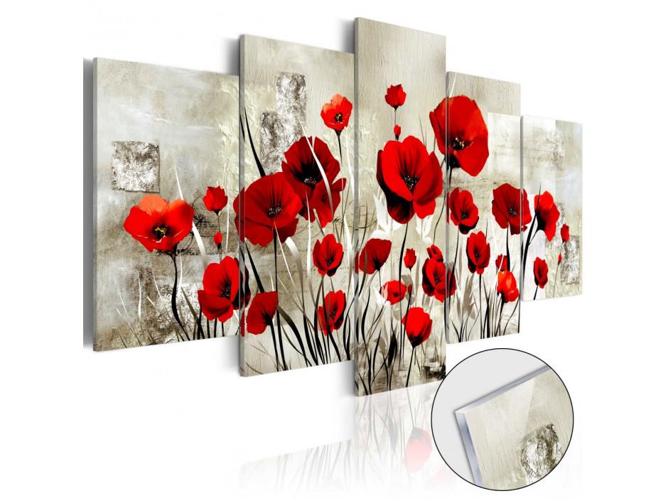 Tableau sur verre acrylique  Сhamp bordeaux [Glass]