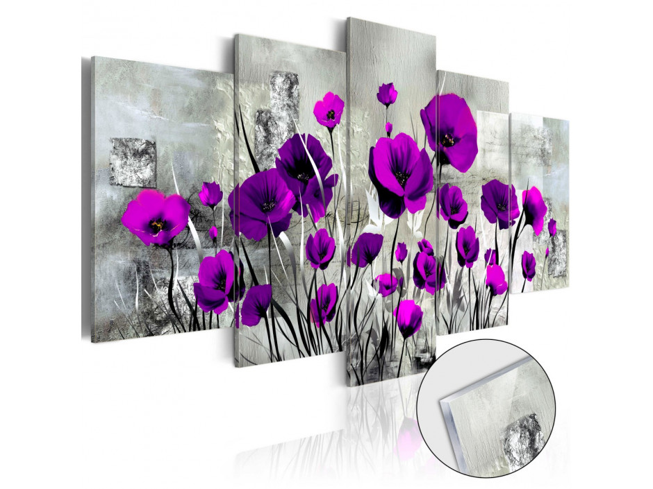 Tableau sur verre acrylique  Meadow Purple Poppies [Glass]