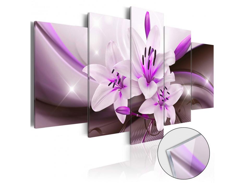 Tableau sur verre acrylique  Violet Desert Lily [Glass]