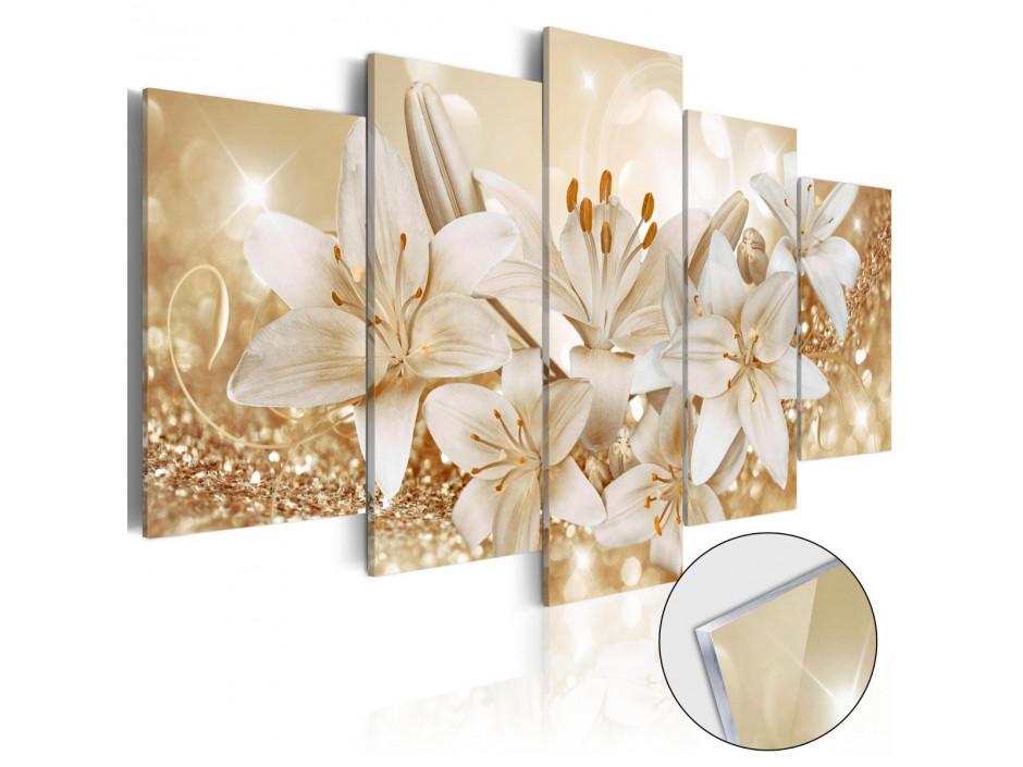 Tableau sur verre acrylique  Golden Bouquet [Glass]