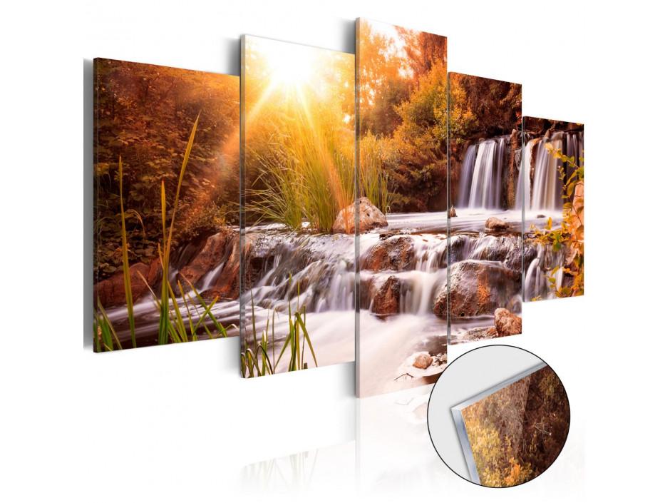 Tableau sur verre acrylique  Autumns Valley [Glass]