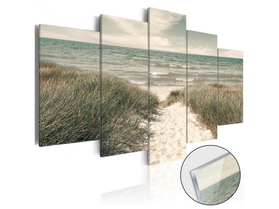 Tableau sur verre acrylique  Quiet Beach [Glass]