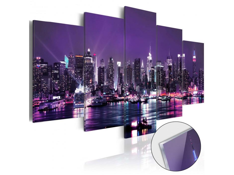 Tableau sur verre acrylique  Purple Sky [Glass]