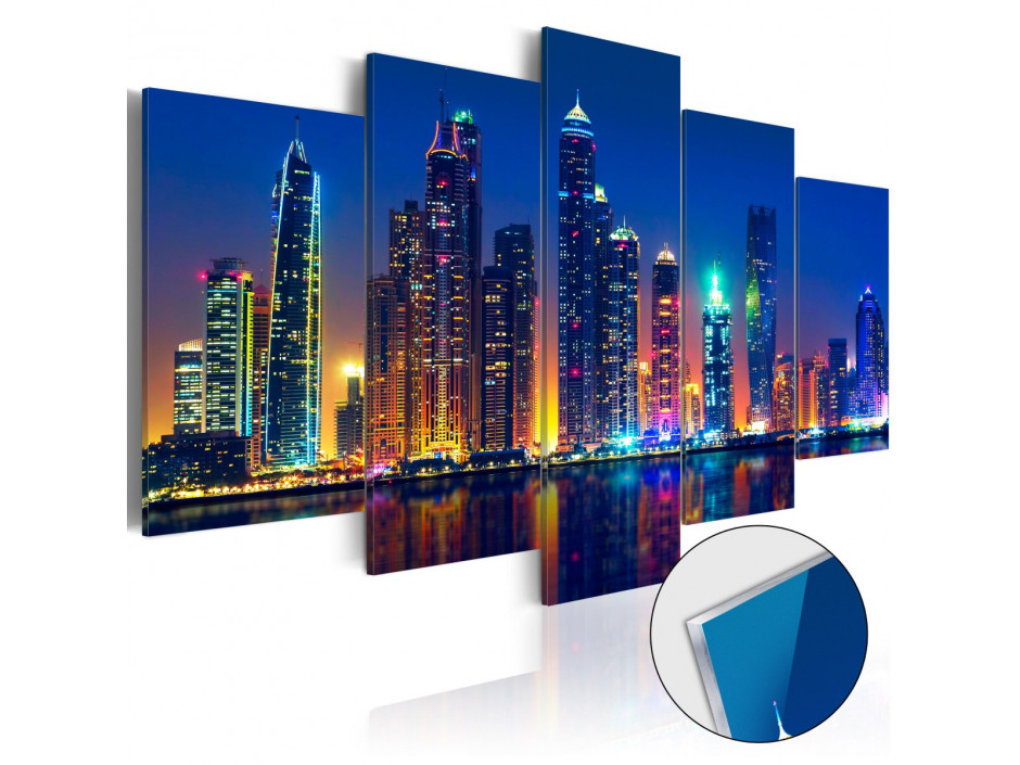 Tableau sur verre acrylique  Nights in Dubai [Glass]