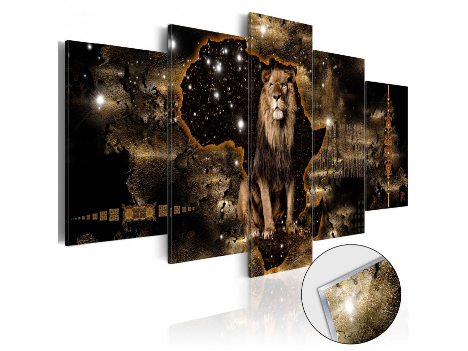 Tableau sur verre acrylique  Golden Lion [Glass]